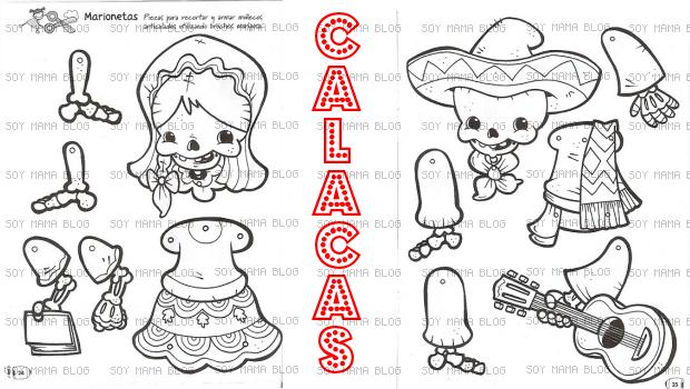 Calacas marionetas para imprimir