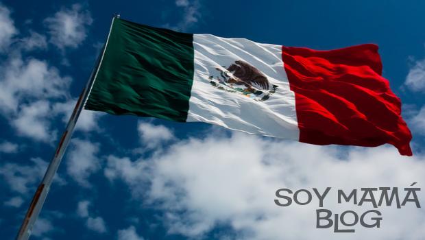 bandera mexico en el cielo