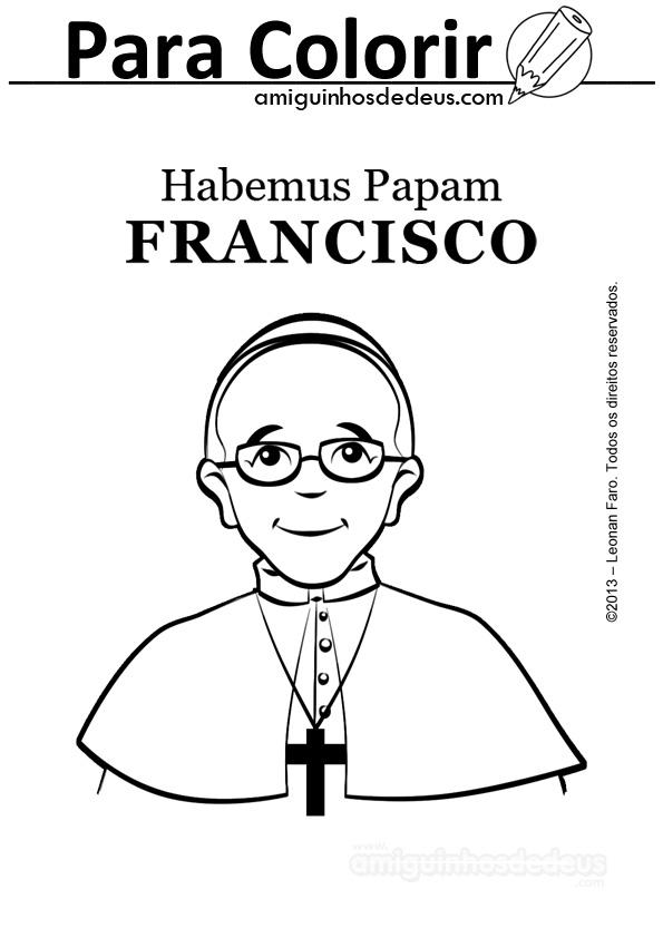 Papa Francisco para colorear. - Soy Mama Blog