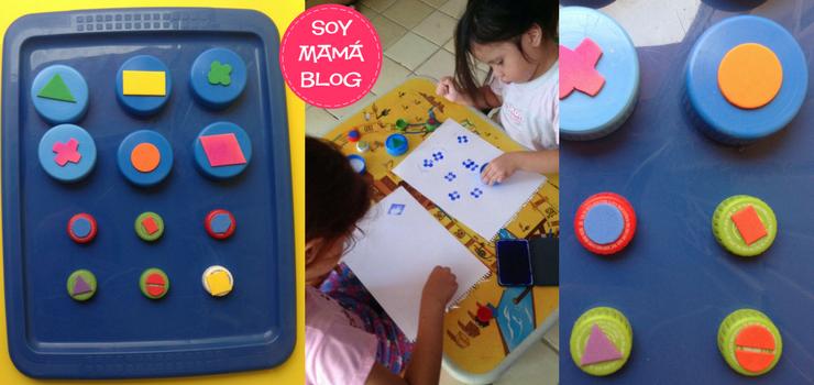 Como hacer sellos con tapas de plástico | Soy Mamá Blog