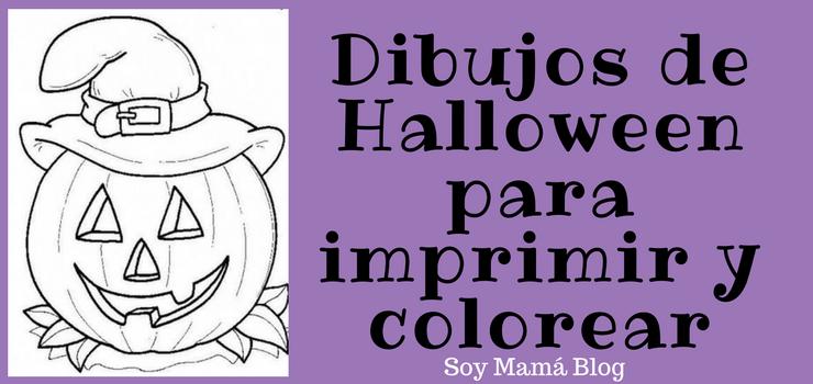 Dibujos de Halloween para imprimir y colorear - Soy Mama Blog