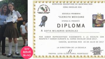 Sofía y su reconocimiento como Escolta Escolar