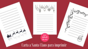 Carta a Santa Claus para imprimir